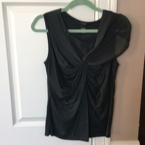 Green shirt with draped details